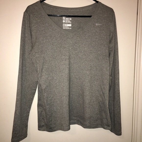 nike tee athletic cut long sleeve